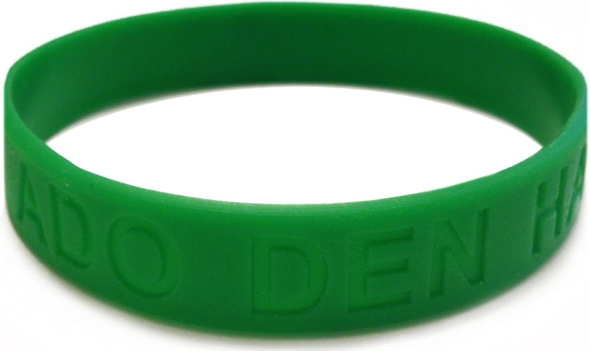 Armbandje rubber groen: glow in the dark