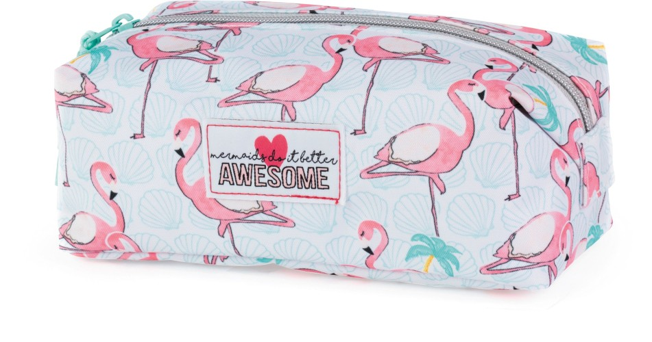 Etui Awesome Mermaid flamingo: 8x21x9 cm