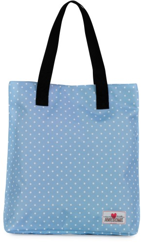 Shopper Awesome Mermaid dots: 38x33x15 cm
