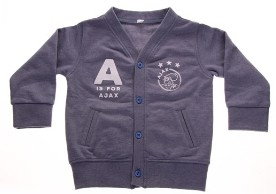 Baby vestje ajax blauw: A is for Ajax maat 62/68