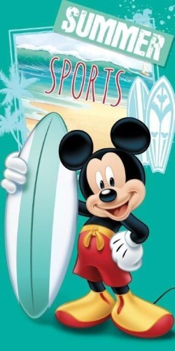 Badlaken Mickey Mouse surf: 70x140 cm