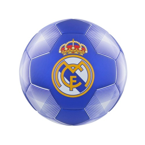 Bal real madrid leer middel wit/blauw