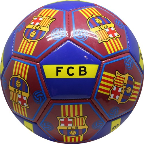 Bal barcelona leer groot blauw all-over