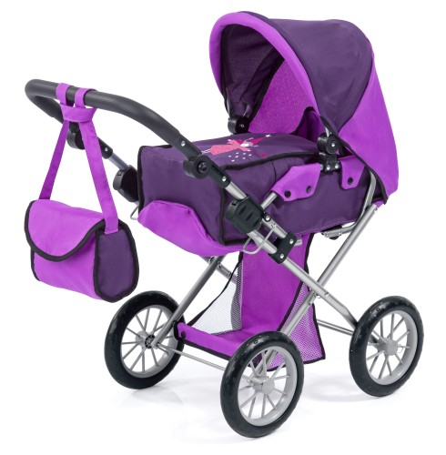 Poppenwagen Bayer City Star: purper (13612AA)