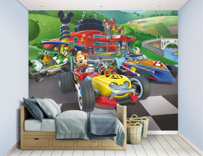 Behang Mickey Mouse Walltastic: 245x305 cm
