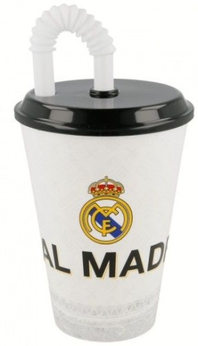 Beker met rietje real madrid: 430 ml