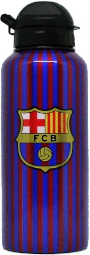 Bidon barcelona blauw/rood aluminium stripes: 400 ml