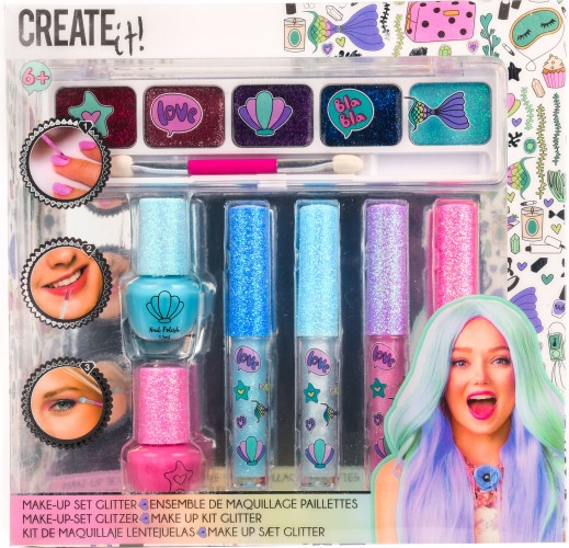 Make-up set Create It glitter: 7-delig (84141)