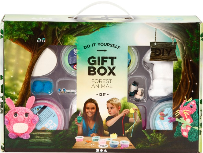 Foam Clay Creotime: giftbox dieren