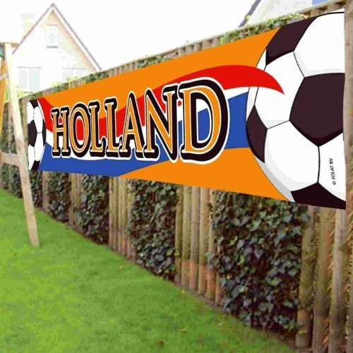 Banner holland oranje: Holland 370x60 cm (30407)