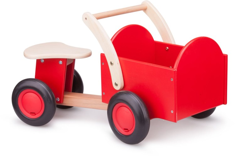 Bakfiets New Classic Toys: rood/blank 37x63x28 cm