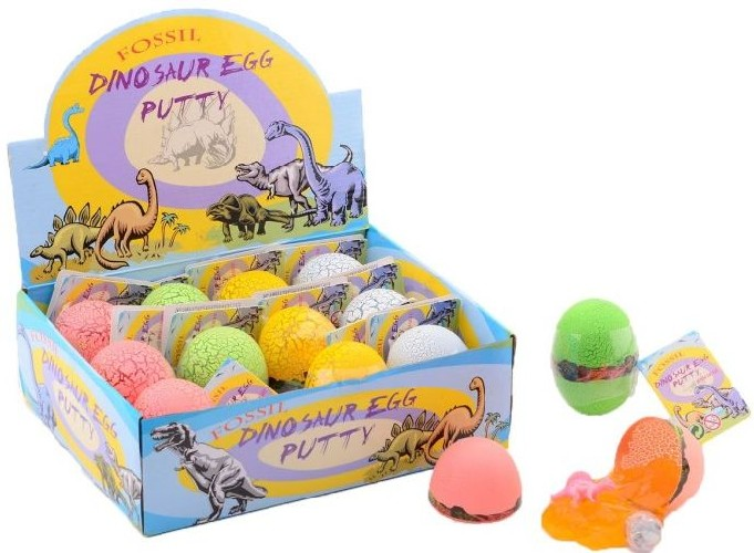 Putty JohnToy: dino in ei met led