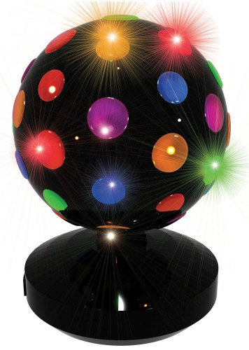 Discolamp LED Party FunLights: zwart 20 cm
