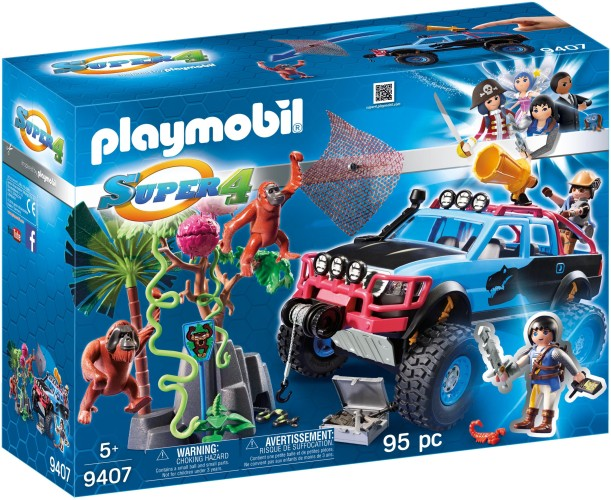 Monstertruck met Alex en Brute Brock Playmobil (9407)