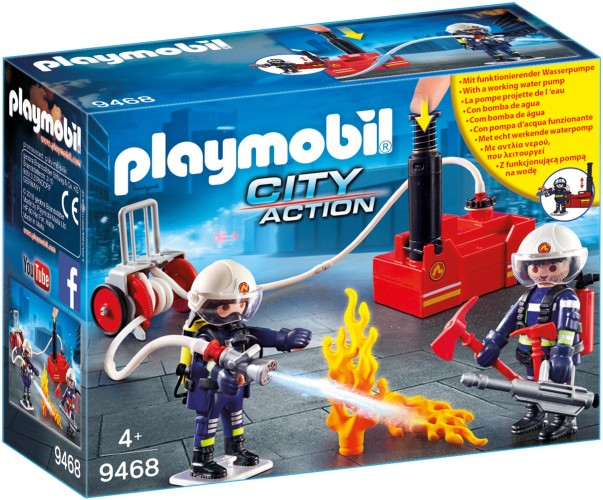 Brandweerteam met waterpomp Playmobil (9468)