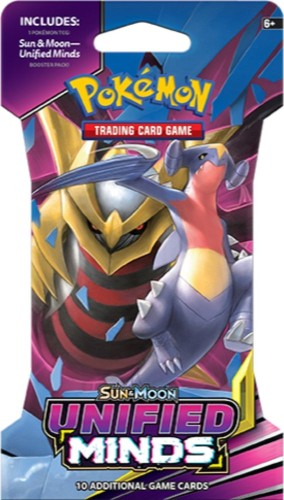 Pokemon booster SM11: Sun & Moon Unified Minds sleeved