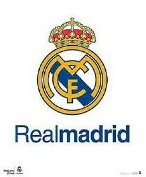 Poster real madrid 40x50 cm: logo