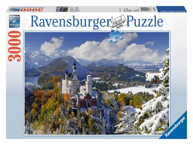 Puzzel Slot Neuschwanstein in winter: 3000 stukjes-170623