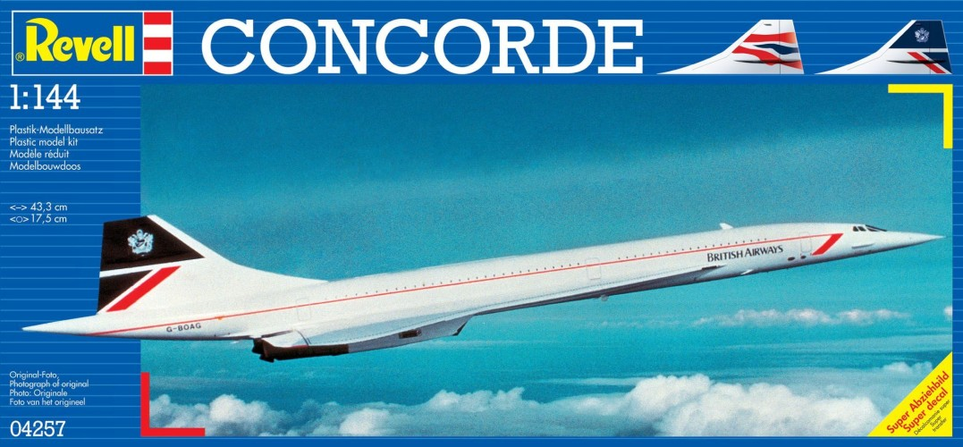 Concorde British Airways Revell: schaal 1:144