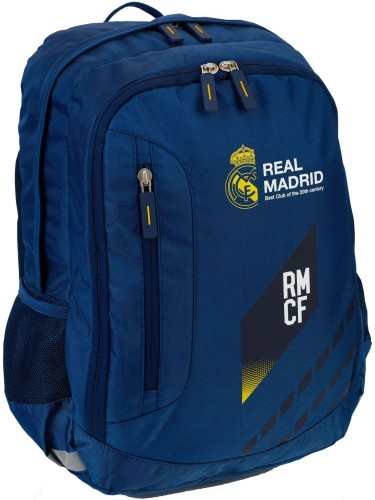 Rugzak real madrid blauw luxe: 44x30x16 cm