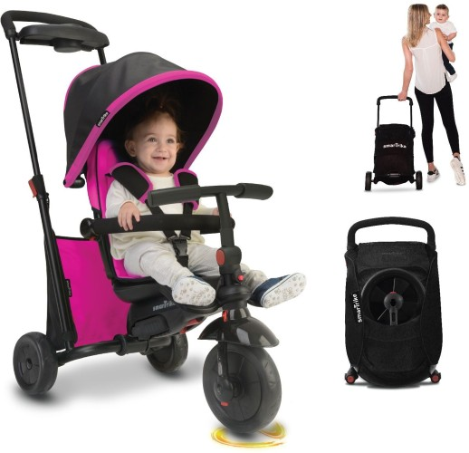 Driewieler SmarTrike Folding 500 Pink: 7 in 1