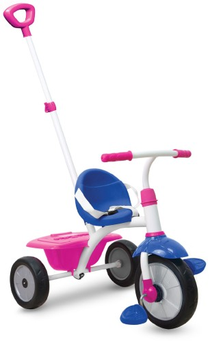 Driewieler SmarTrike New Grid Blue/Pink/White