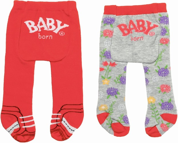 Maillot Trend Baby Born: rood/grijs